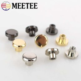 Bag Parts & Accessories 20sets Metal Rivets Bag Bottom Screw For Leather Buttons Screw For Shoes Bags Clothes Hardware Belt Accessories For Bag Feet