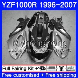 thunderace fairings UK - Body For YAMAHA YZF1000R Thunderace 02 03 04 05 06 07 238HM.43 YZF 1000R YZF-1000R 2002 2003 2004 2005 2006 2007 Fairing Grey silver hot kit