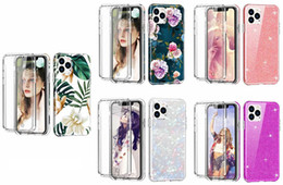 Discount iphone body shell - Defender Hybrid Hard PC+Soft TPU Case For Iphone 11 Pro MAX XR XS X 10 8 7 6 Samsung Note 10 Flower Glitter Shell 2 IN 1
