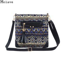 28f846e2cf Wind Bags Australia - Molave Handbag bag women Tassel national wind  printing girls bag tote bag