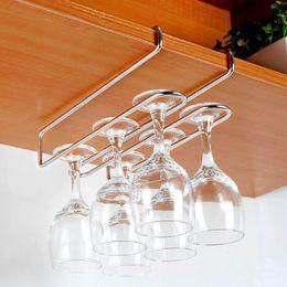 $enCountryForm.capitalKeyWord Australia - Stainless Steel Champagne Stemware Rack Wine Glass Cup Holder Kitchen Under Cupboard Wine Cup Rack Holder Bar Hanger Shelf