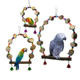 $enCountryForm.capitalKeyWord NZ - Small Favour And Put Sb. In Important Position Product Parrot Toys Suspension Bridge Swing Rings Raw Wood Beads Bird Toys