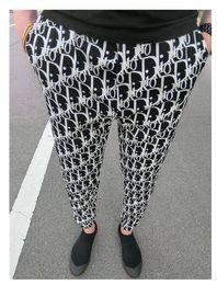Womens casual trousers online shopping - 19ss womens Pants printing women Sports Jogger Pants Long Elastic Waist Trousers Pantalones L022