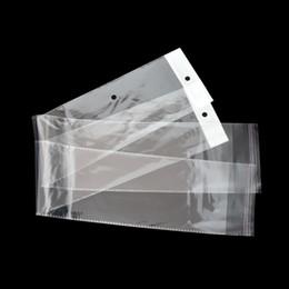 10.5 * 62 cm OPP Limpar Poli Peruca Pacote Bolsa Saco Longo Transparente De Plástico Auto Adesiva Peruca De Cabelo Saco De Embalagem Com Cair Buraco 100 pçs / lote venda por atacado