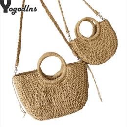 $enCountryForm.capitalKeyWord Australia - Straw Handbags For Summer Beach Vintage Casual Shoulder Women High Capacity Tote Oval Shaped Bags MX190725