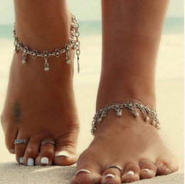$enCountryForm.capitalKeyWord NZ - Best-selling shoes and jewelry Europe and the United States simple metal wash tassels hollow sculpture Vintage foot chains