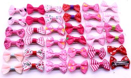 hair fall products NZ - 20pcs Valentine's Day bows boy girl dog Bowknots pet hair Clips pet hair accessories grooming product