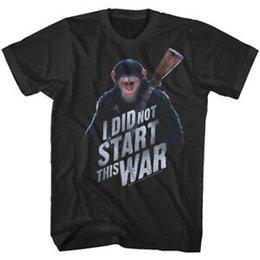 Shirt Slogans Australia - Planet of The Apes Caesar Did Not Start This War Men's Slogan T Shirt Monkey