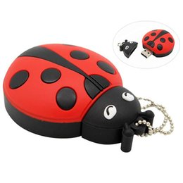 $enCountryForm.capitalKeyWord Australia - Top sell cute cartoon Animal ladybugs usb 4GB 8GB 16GB 32GB 64GB pendrive USB Flash Drive creative gifty Stick Pendrive