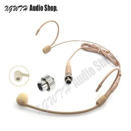 Connector Microphone Australia - Ear Hanging Headset Headworn Microphone for Mipro Wireless Body-Pack Transmitter Skin Connector Mini XLR 4PIN Lock