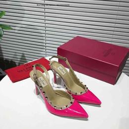 e43b4619d Mulheres Bombas Mulheres senhoras mulher Sapatos de Salto Alto Fino  Elegante Fundo Vermelho Dedo Apontado Moda Escritório
