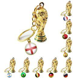 $enCountryForm.capitalKeyWord NZ - Key chain football key ring bag pendant accessories European cup fans World Cup Souvenir Game Gift Keyboard Prize Customization