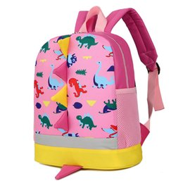 Character Backpacks Australia - 2017 New Cartoon dinosaur printing small cute school Backpack Kindergarten Bags for 1-3-5 Years Old Girls Boys School Bags