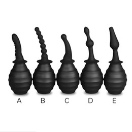 $enCountryForm.capitalKeyWord NZ - Anal Plug Silicone Anus Douche Cleaner Enema Vagina Wash Bottle Tube Nozzle Pump Enema Anus Cleaning Sex Toys Adult Products For Women Men