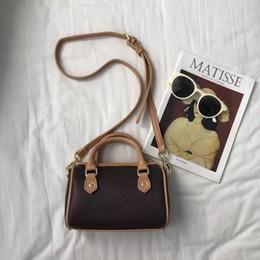 venda por atacado Atacado sacos novos mini-boston lona genuína senhora de couro bolsa de mensageiro telefone bolsa fashion bolsa travesseiro nano mala a tiracolo
