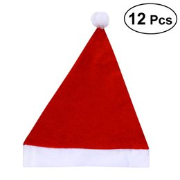 Novelty Christmas Ornament Australia - 12PCS Fancy Dress Party Wear Hat Christmas Santa Claus Hat for Children Adults Novelty Ornaments Christmas Costume Decoration