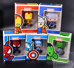 Free Marvel Toys Australia - Marvel Original Action Figures Doll Toys Car Accessories PoP Doll High Quality The Avengers Kids Toys Free shipping DHL