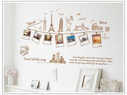 $enCountryForm.capitalKeyWord Australia - Removable global travel wall art decal stickers Photo Frame Wall Sticker mural sweet memory wall murals worldwide famous building home decor