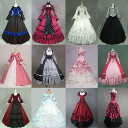 victorian gothic princess ball gown Australia - 18th European Court Marie Antoinette Princess Dress Costume Halloween Gothic Victorian Historical Ball Gowns For Women Q190402