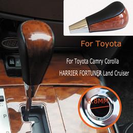 $enCountryForm.capitalKeyWord Australia - Leather Walnut Automatic For Toyota Corolla Camry HARRIER FORTUNER CROWN Land Cruiser Gear Stick Shift Lever Knob Car accessorie