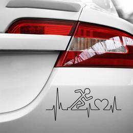 $enCountryForm.capitalKeyWord Australia - Car Pulse Heartbeat Sticker Run Decal Body-building Posters Vinyl Wall Stickers Decor Gym Sticker