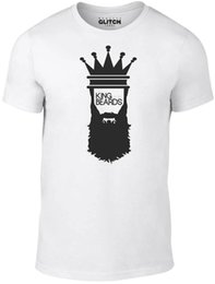 Style Facial Hair Australia - King of Beards T-Shirt - Funny t shirt retro designer fashion facial hair cool High Quality,Summer 100% Cotton, Tees Chinese Style
