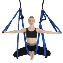 Yoga Anti Gravity Yoga Accessories Air Hammock Hanging Rope Climbing Chrysanthemum Fitness Equipment Outdoor Flat Belt