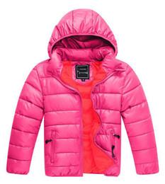 $enCountryForm.capitalKeyWord UK - 2018 New Fashion brand children waterproof Down Jacket Boys Coat Long Sleeve Hooded Coats Girls Down Coats Boys 90--140