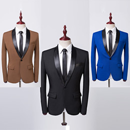 $enCountryForm.capitalKeyWord Australia - Tops Hombre Men's Korean Black Blue Brown Suit Personality Men's Suit Costume   Male Singer   Hair Stylist Wedding Dress