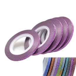 $enCountryForm.capitalKeyWord Australia - 1 Roll 3mm Glitter Striping Tape Color Line Tips Strips For Polish Diy Art Decorations With Shining Powder Nc390