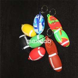 $enCountryForm.capitalKeyWord NZ - wholesale colorful Key chain Football pipes Mini Smoking Hand Tobacco Pipes Meter Hand Pipes free shipping
