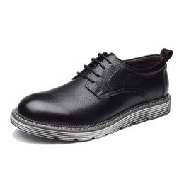 $enCountryForm.capitalKeyWord Australia - New Genius Leather Concise Men Business Dress Pointy Black Shoes Breathable Formal Wedding Basic Shoes Men