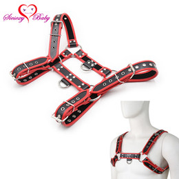 chest belt for men Australia - Faux Leather Male Harness Body Bdsm Fetish Slave Bondage Restraints Strap Belt Chest Dildos Adult Game Sex Toy For Men Gnl015 J190525