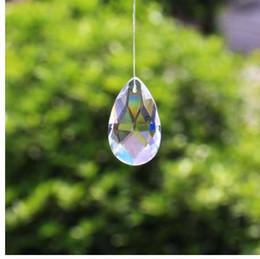 Vente en gros 10pcs larme goutte 28mm verre clair cristal prisme bricolage pendentif lustre bijoux Suncatcher Spacer facettes