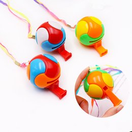 Kids Sports Whistle Australia - Kids Football Whistle 6.3x4.3x1.3cm colorful plastics cheer for props sounding toys mini referee whistle kids gifts outdoor sports props B11