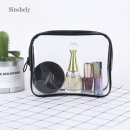 $enCountryForm.capitalKeyWord Australia - Small Portable Makeup Bag Women Clear Transparent Waterproof Make Up Bags Travel Accessories PVC Cosmetic Bag