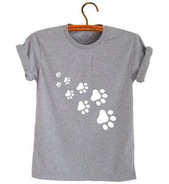cat t shirts for women Australia - Womens Designer Clothing T Shirt Women Cat Paws Women Tshirt Funny T Shirt For Lady Tee Hipster Gray Black Ship Z 326