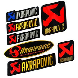 AkrApovic motorcycle online shopping - 2PCS New Arrval Aluminium Motorcycle Exhaust Pipes Pipe Decal Sticker Cool Personality Scorpio For Akrapovic