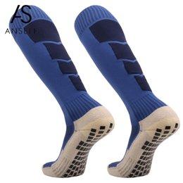 Underwear & Sleepwears Anti Slip Mens Football Socks Soccer Sports Running Long Stockings Leg Compression Stretch Knee High Thick Cotton Socks
