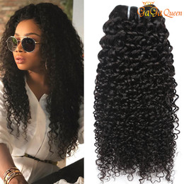 Queens curly weave online shopping - New Arrival Indian Virgin Hair Kinky Curly Bundles Unprocessed Indian Deep Wave Human Hair Extensions gaga queen