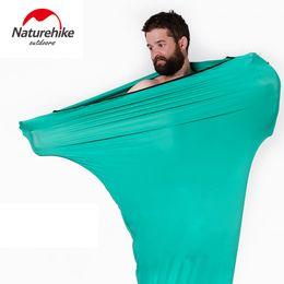 $enCountryForm.capitalKeyWord Australia - Naturehike High Elastic Sleeping Bag Liner Outdoor Camping Travel Ultralight Single Healthy Portable Lazy Liner 80x200cm C18112601