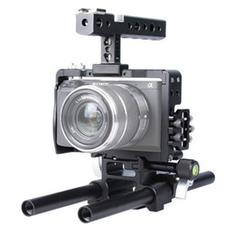 Steadicam Camera Dslr Australia - Freeshipping DSLR Rig 15mm Rod Rig Handheld Grip Video aluminum alloy Camera Cage Steadicam Stabilizer for Sony A6500 A6300 A6000