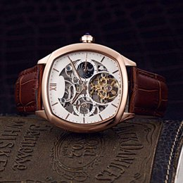 $enCountryForm.capitalKeyWord Australia - Luxury classic rose gold hollowed-out charm men's watch high-end automatic mechanical movement imported leather watchband multi-color option