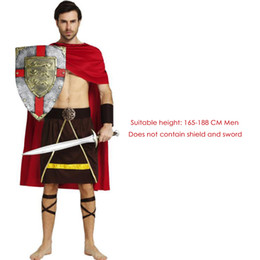 warrior costume men Australia - Medieval Italian Cosplay for Ancient Roman Samurai Warrior Costumes Traditional Fighting Halloween Adult Men Clothing