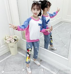christmas clothes Australia - New Children's Foreign Style Clothes, Girls'Spring and Autumn Satellite Clothes, Fashionable Net Red Two-piece Set