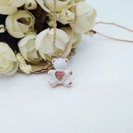 Necklaces Pendants Australia - 2019 hot recommended smart bear teddy bear lively, lovely and childlike a lady necklace jewelry Pendant necklace Women's