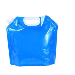 $enCountryForm.capitalKeyWord UK - 5L Water Bag For Portable Folding Water Storage Lifting Bags For Camping Hiking Cycling Survival hydration bladder Travel Accessories 7