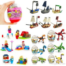 $enCountryForm.capitalKeyWord NZ - Kids building block toys Surprise Twist Eggs Beauty Dinosaur Pirates 3 Styles building block Sets Bricks Gifts