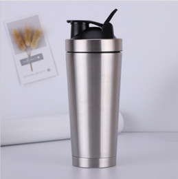 $enCountryForm.capitalKeyWord Australia - Stainless Steel Protein JoyShaker Bottle Whey Protein Powder Gym Shake Kettle Milkshake Mixer Sports Water Bottle Eco Friendly Double Layer