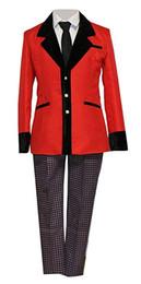 $enCountryForm.capitalKeyWord Australia - Compulsive Gambler Cosplay Costume Mens Red School Uniform